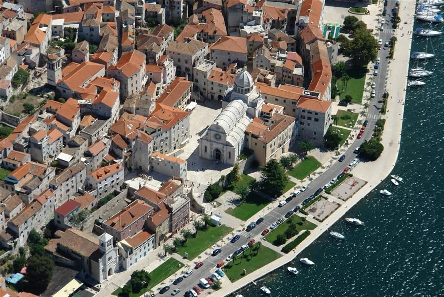 Šibenik from air